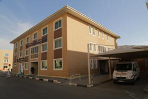 Hospital in Al Salam Living City worker accommodation in Abu Dhabi