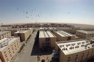 Bird eye view of worker accommodation near mussafah Abu Dhabi